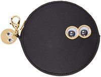 Sophie Hulme Black Frank And Penny Spot Coin Pouch