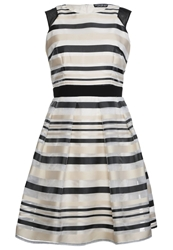 Little Mistress Cocktail Dress Party Dress Offwhite Black Off White