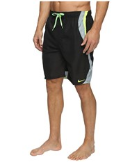 Nike Liquid Haze Splice 9 Volley Shorts Black Men's Swimwear