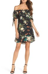 Mary And Mabel Women's Tie Sleeve Off The Shoulder Dress
