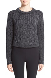 Rag And Bone 'Lynne' Wool Blend Crewneck Sweater Black