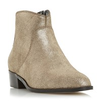 Dune Pearcey Long Point Ankle Boots Bronze