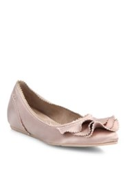 Pedro Garcia Albany Pointed Satin Flats Pink