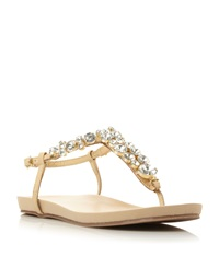 Episode Kirby Jewelled Toe Post Sandal Nude