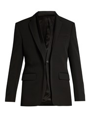 Givenchy Double Collar Single Breasted Blazer Black