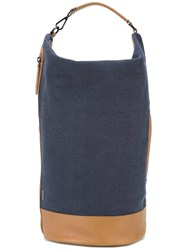 Zanellato Detachable Strap Tote Blue