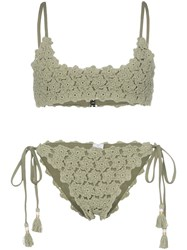 She Made Me Maalai Crochet Bikini Green