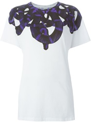 Marcelo Burlon County Of Milan Snake Print T Shirt White