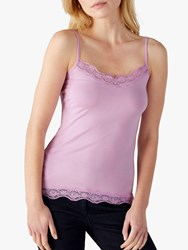 Pure Collection Lace Jersey Camisole Orchid Pink