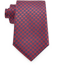 Austin Reed 8Cm Navy And Red Dogtooth Silk Tie