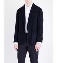 Joseph Double Breasted Wool And Cashmere Blend Jacket Navy