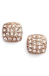 Women's Givenchy 'Legacy' Pave Stud Earrings Rose Gold Silk