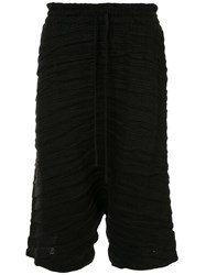 Forme D'expression Cropped Ribbed Trousers Black