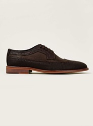 Topman Brown And Burgundy 2 Tone Brogues