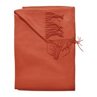 Sofia Cashmere Trentino 2 Ply Fringed Throw Orange