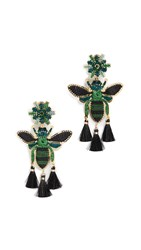 Mercedes Salazar Tropics Butterfly Earrings Green