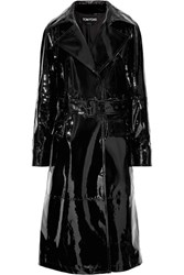 Tom Ford Patent Leather Trench Coat Black