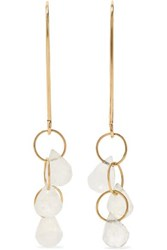 Melissa Joy Manning 14 Karat Gold Moonstone Earrings One Size