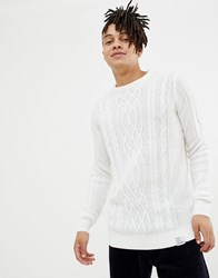 Your Turn Yourturn Cable Knit Jumper In White Off White