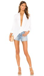 Yfb Clothing Corinne Top In White.