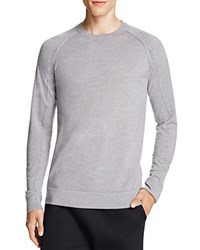 Helmut Lang Merino Wool Crewneck Sweater Light Heather Grey