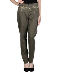 Essentiel Trousers Casual Trousers Women Military Green