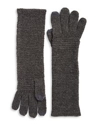 Rebecca Minkoff Long Knit Touch Gloves Grey
