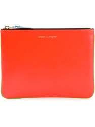 Comme Des Garcons Wallet 'Super Fluo' Clutch Yellow And Orange
