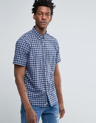 Denim And Supply Ralph Lauren Oxford Shirt With Check Short Sleeves Blue