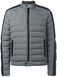 Just Cavalli Zip Up Padded Jacket Grey