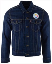 Levi's Men's Pittsburgh Steelers Trucker Jacket Blue