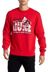 Mitchell And Ness Long Sleeve Graphic Sweater Red