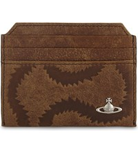 Vivienne Westwood Belfast Squiggle Leather Card Holder Tan