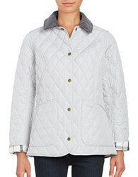 Barbour Quilted Button Front Coat White