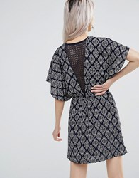 Wal G Dress With Lace Back Navy