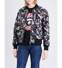 Aape By A Bathing Ape Camouflage Shell Bomber Jacket Black