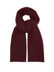 Denis Colomb Frayed Cashmere Scarf Burgundy