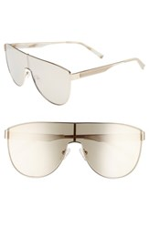 Kendall Kylie Shield Aviator Sunglasses Light Gold