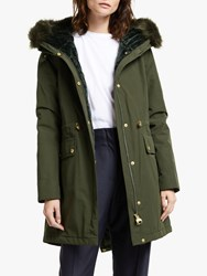 Barbour International Clutch Hooded Parka Moto Green