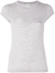 Le Kasha 'Haiti' Knit T Shirt Grey