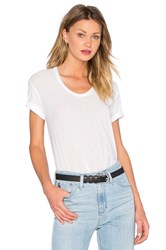 Alexander Wang Tissue Jersey Scoop Tee White