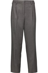 Etro Woven Tapered Pants Dark Gray