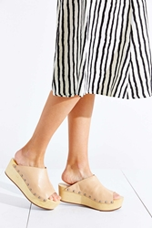 Kelsi Dagger Brooklyn Philomena Wooden Wedge Nude