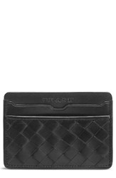 Trask Men's Woven Leather Card Case