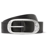 Lanvin 4Cm Black Leather Belt Black