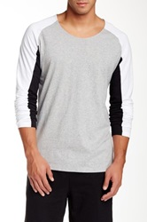 Shades Of Grey Long Sleeve Baseball Tee Gray
