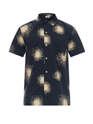 Ymc Loop Collar Firework Print Shirt