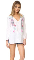 Ondademar Embroidered Linen Tunic White