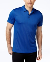 Alfani Black Men's Jaden Jacquard Polo Only At Macy's Hyper Blue Combo