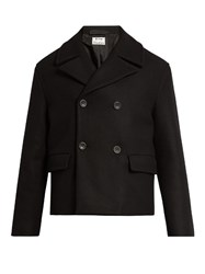 Acne Studios Merge Wool Pea Coat Black